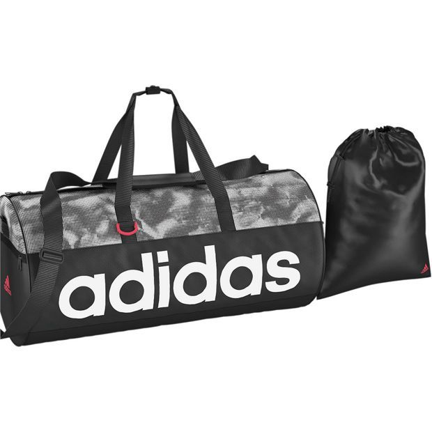 Buy Adidas Holdall and Gymsack - Black and Pink at Argos.co.uk ... 1b5578a3968dc
