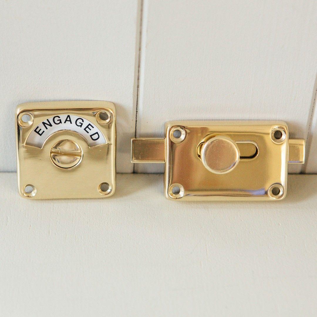 Indicator Bolt Vacant Engaged Brass Bathroom Pinterest