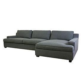 Kaspar Slate Gray Fabric Modern Sectional Sofa Bank Grijs Home Decor Wayfair