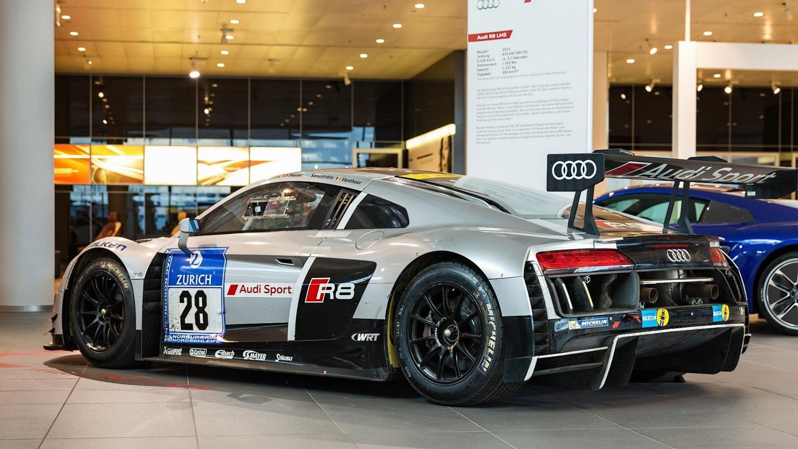 Audi R8 Lms Gt3 Brings Thunder To Showroom Floor Audi Audi R8