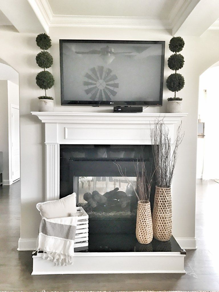 ways to get the simple farmhouse look bless this nest fireplace