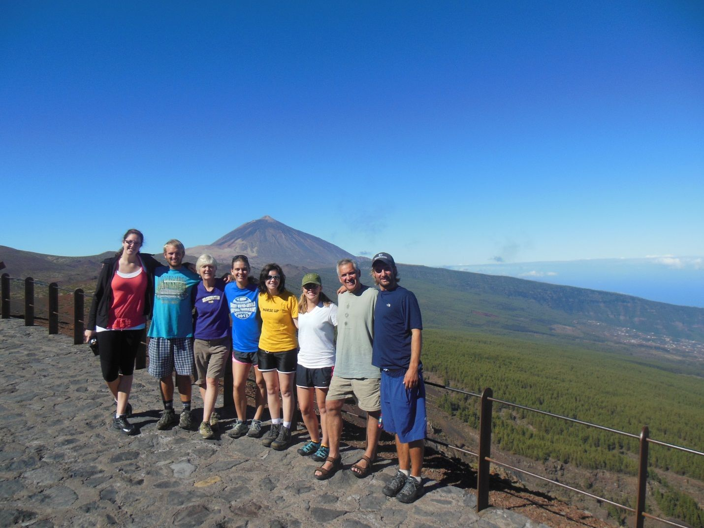 9.30.12-see that volcano in the background? that's Mt. Teide, the world's 3rd tallest active volcano, and we hiked up it!!!