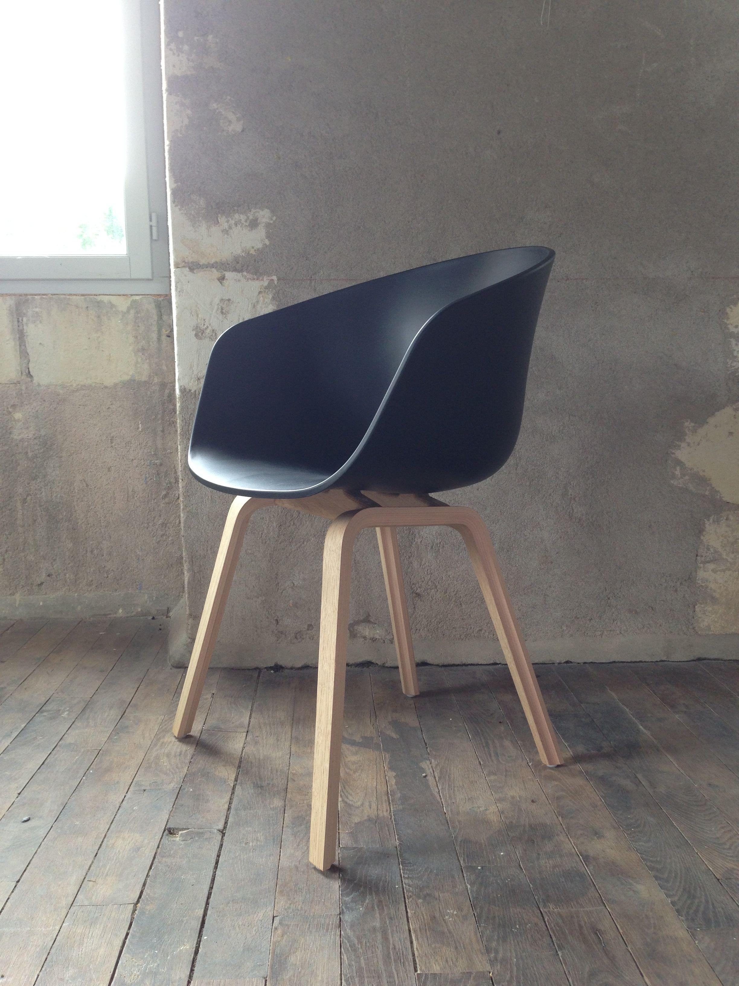 Chaise About A Chair   Coque Plastique Avec Accoudoirs   Hay Design