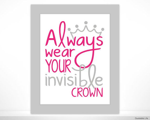 Always Wear Your Invisible Crown 4x6 Print In 5x7 Mat Invisible Crown 4x6 Prints Scripture Art Painting