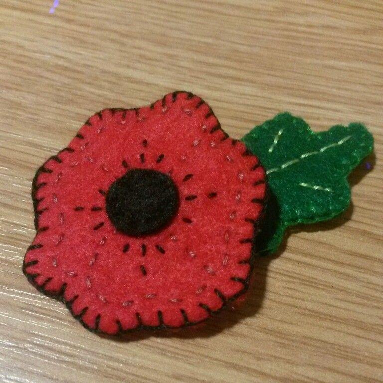 Rememberance poppy I made with felt
