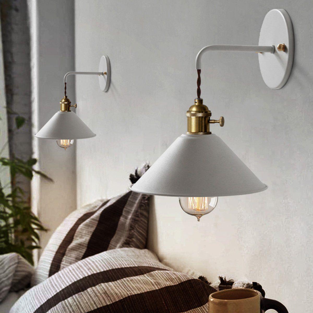 Industriale lampada da parete Applique da Parete Metallo ...