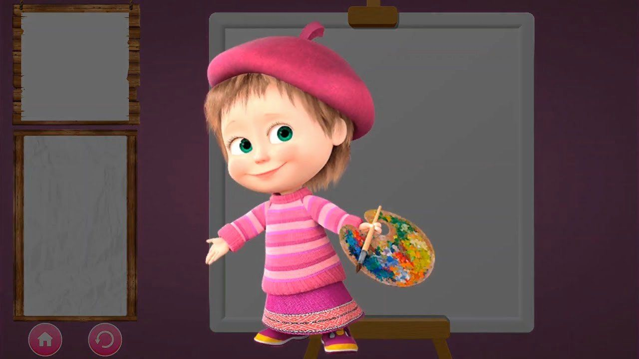 Coloring Jolly Toy Lovely Masha And The Bear Games Activities Masha Painter Pirate Coloring Pages Masha And The Bear Jolly