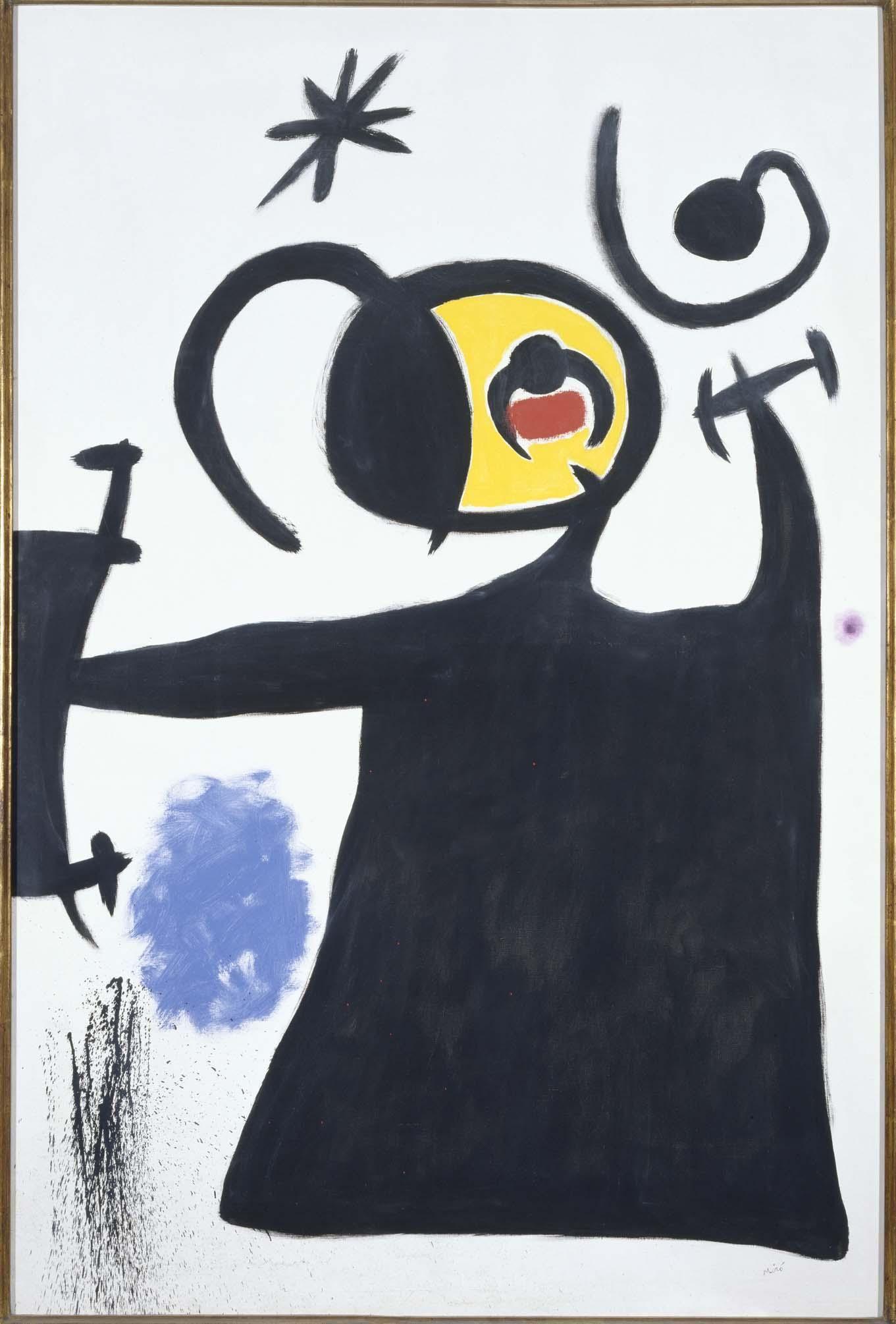 Miró, Joan: Femme en transe par la fuite des étoiles filantes (Woman Entranced by the Escape of Shooting Stars)