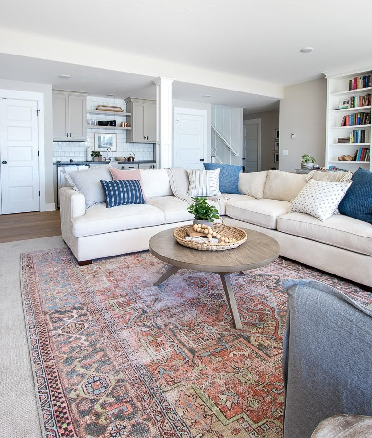 Photo of Neutral Lake House Family Room – The Lilypad Cottage