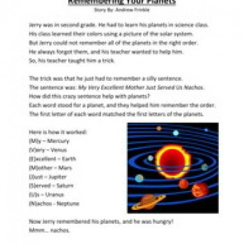 Second Grade Reading prehension Worksheet Remembering Your