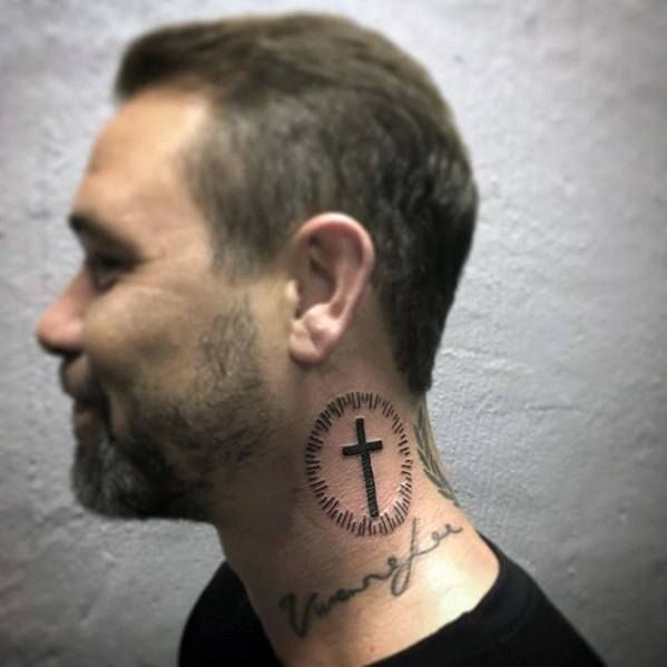 Фото мужских тату на шее с боку (43 картинки)   Татуировки ...