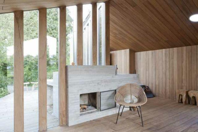 Glas Kamin Beton Holz Decke Boden Wände | Interior | Pinterest ...