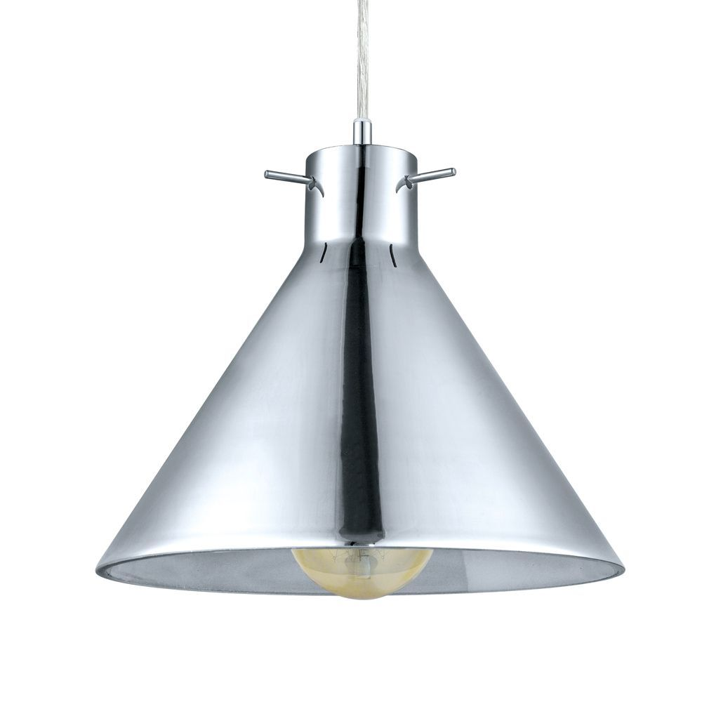 Kitchen Pendants - Vintage Smoked Glass Cone Pendant Light with ...