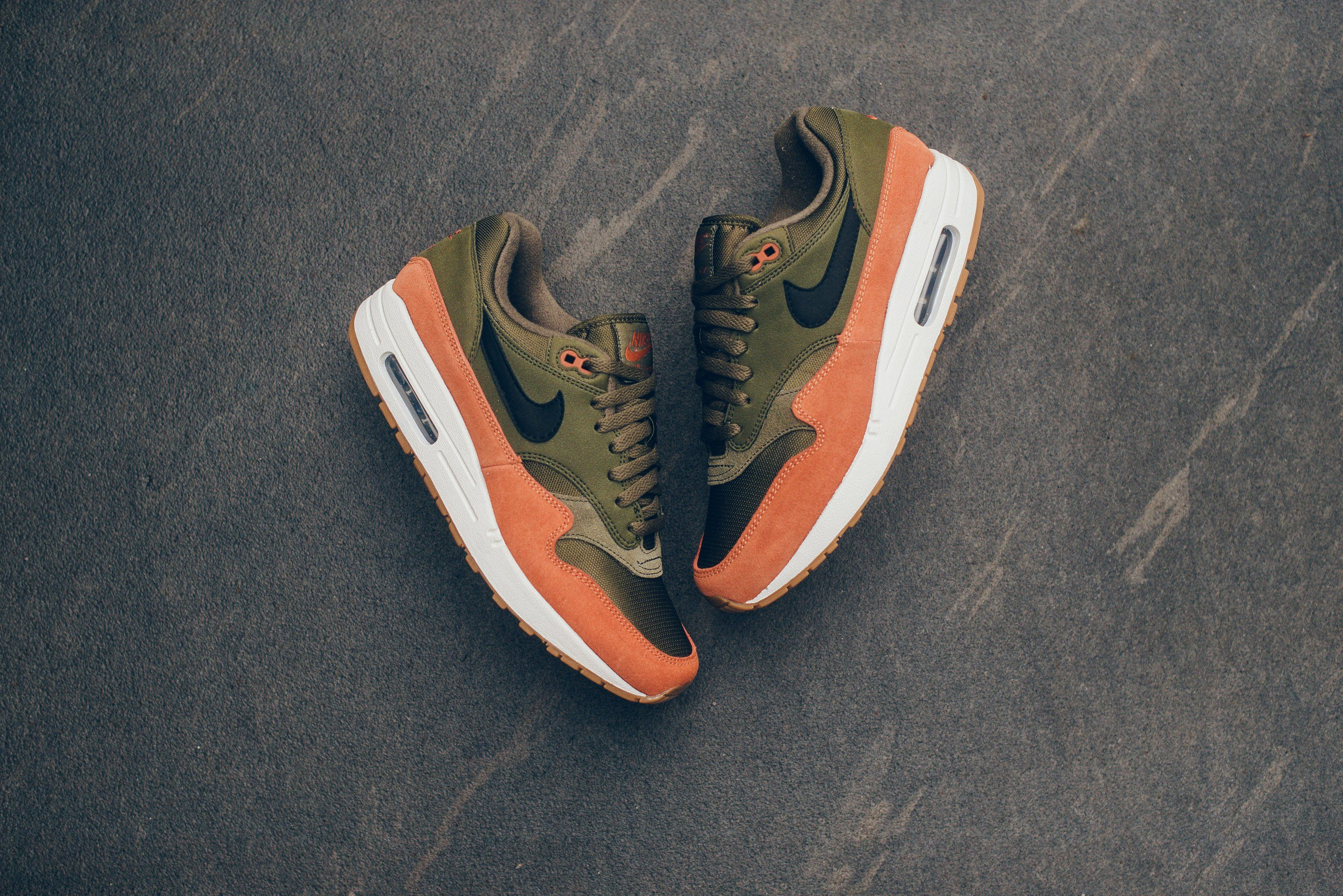 Nike Air Max 1 Olive CanvasBlackDark Russet from Sneaker
