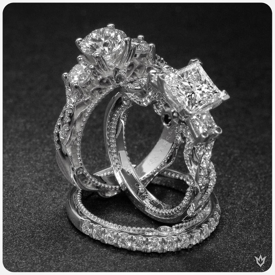 Vintage elegance, breathtaking sparkles... #Verragio (Venetian-5013R, Insignia-7074P & 7074W)