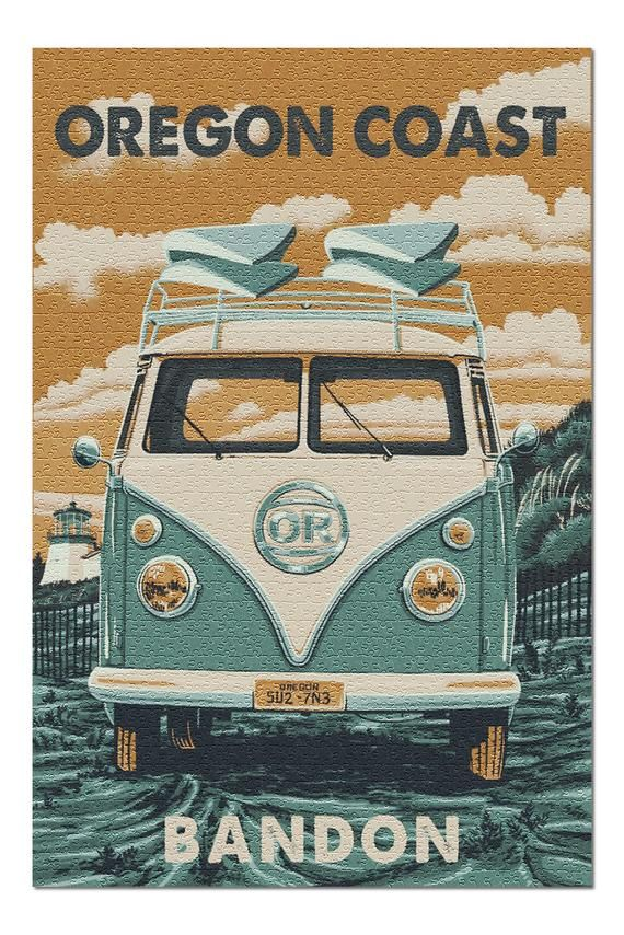 This original high-quality 1000 piece puzzle from Lantern Press boasts sharp detail and vivid imagery of Bandon, Oregon - Camper Van and Surfboards 110053 (19x27 Premium 1000 Piece Jigsaw Puzzle for Adults, Made in USA!).Printed on heavy stock paper using a high-end digital printing press guarantees: color accuracy, durable imaging, and the highest print resolution available. This puzzle is 100% Made in America.Product measures 19 x 27  inches1000 Pieces, perfect for anyone!100% Made in America1