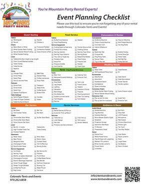 party planning checklist birthday pinterest party planning