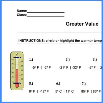 Rational Number Order Worksheet Ccssthntent6nsc7b