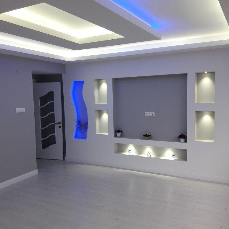 Parete Attrezzata Moderna In 2020 Living Room Design Decor Ceiling Design Modern House Ceiling Design
