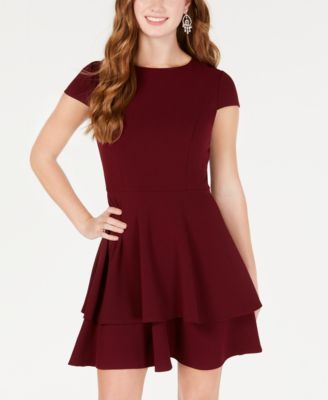 Juniors Ruffled Bow Back Fit Amp Flare Dress Ideas For