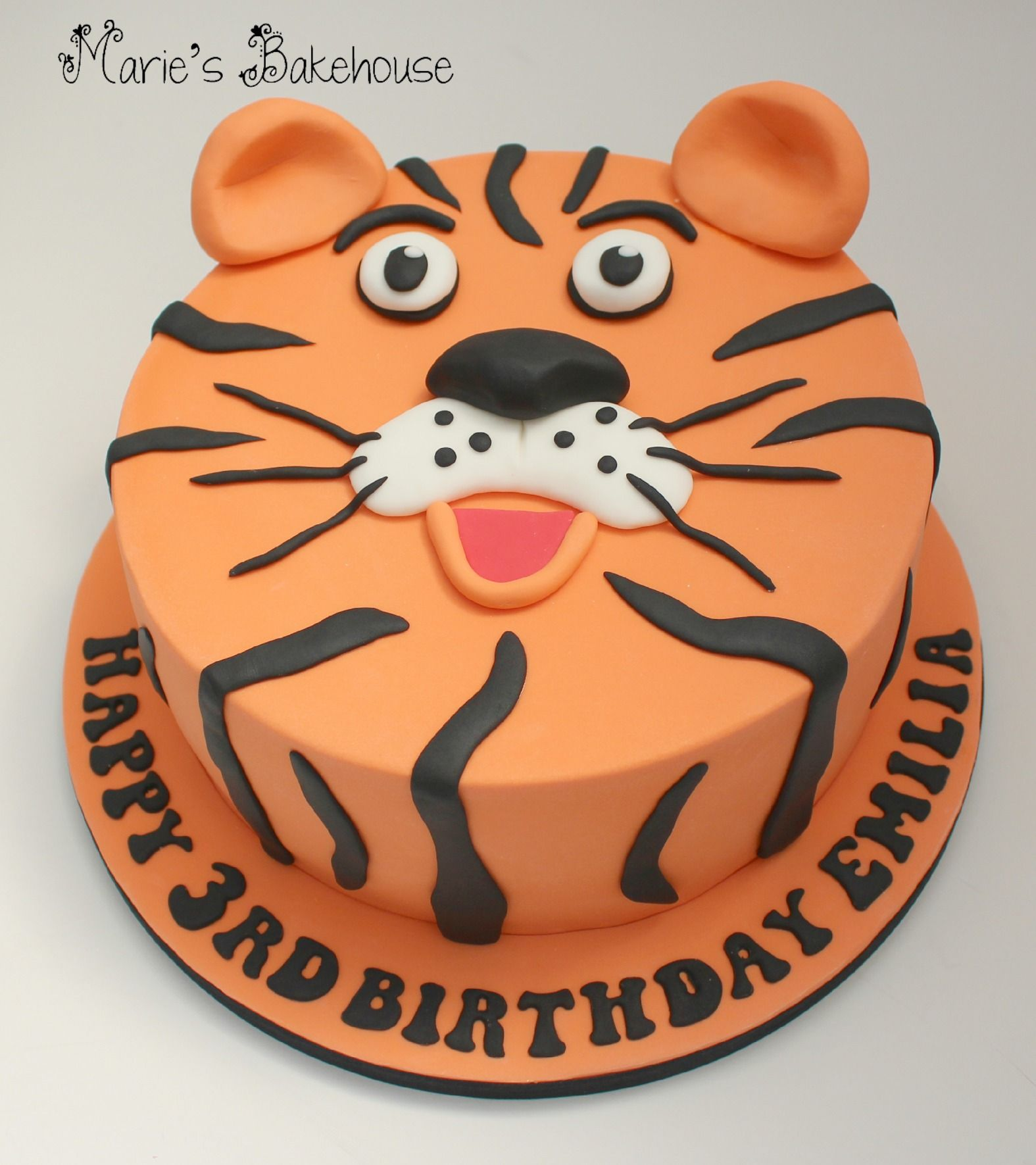 Tiger Face Cake For Childrens Birthday Mariesbakehouse