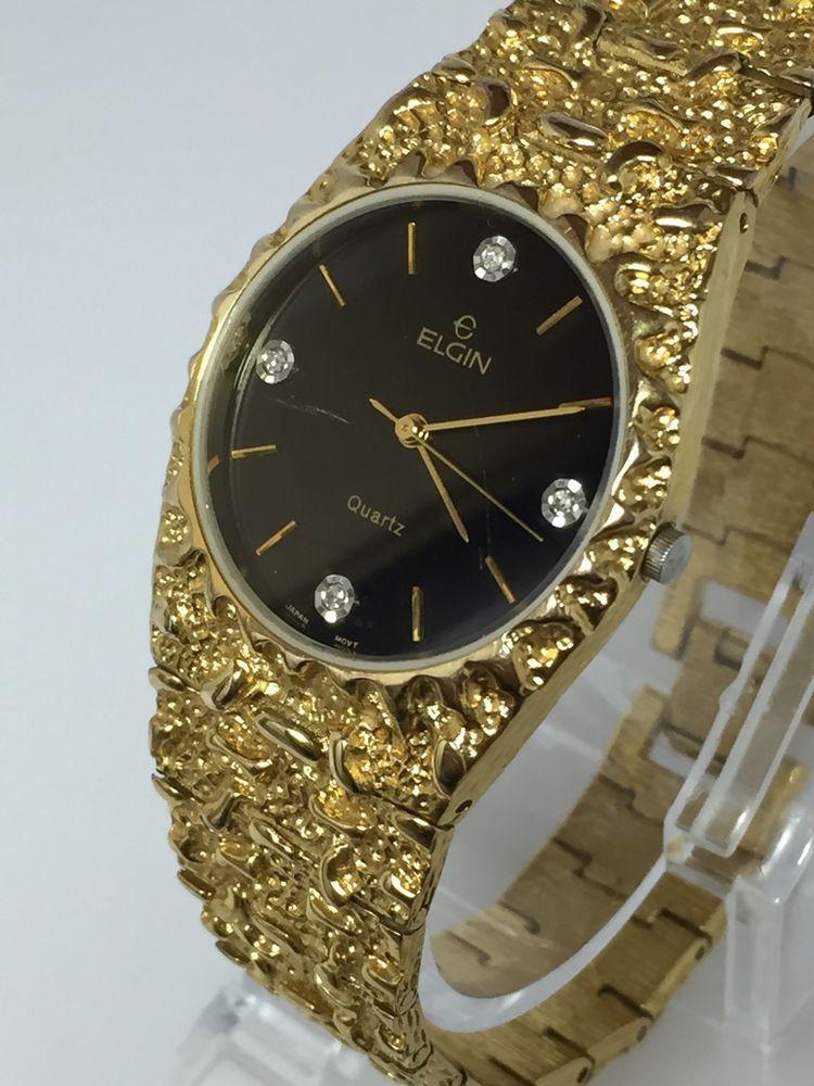 Vintage Elgin END05 017 2035 Good Tone Unisex Quartz Watch