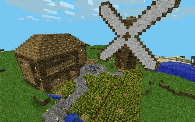 a farmhouse i made in minecraft pocket edition. | minecraft lovers