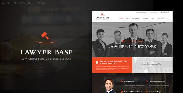 Lawyer Base - Lawyers Attorneys WordPress Theme | Wordpress, Law ...