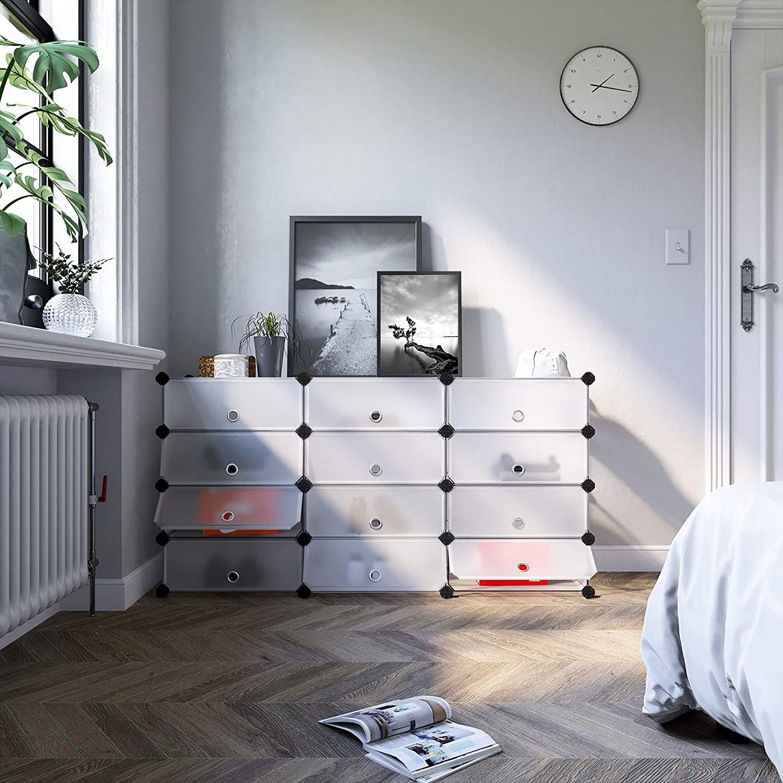 Nancy's Shoe Rack – Plastic shoe case – White – 40 x 17 x 3 …