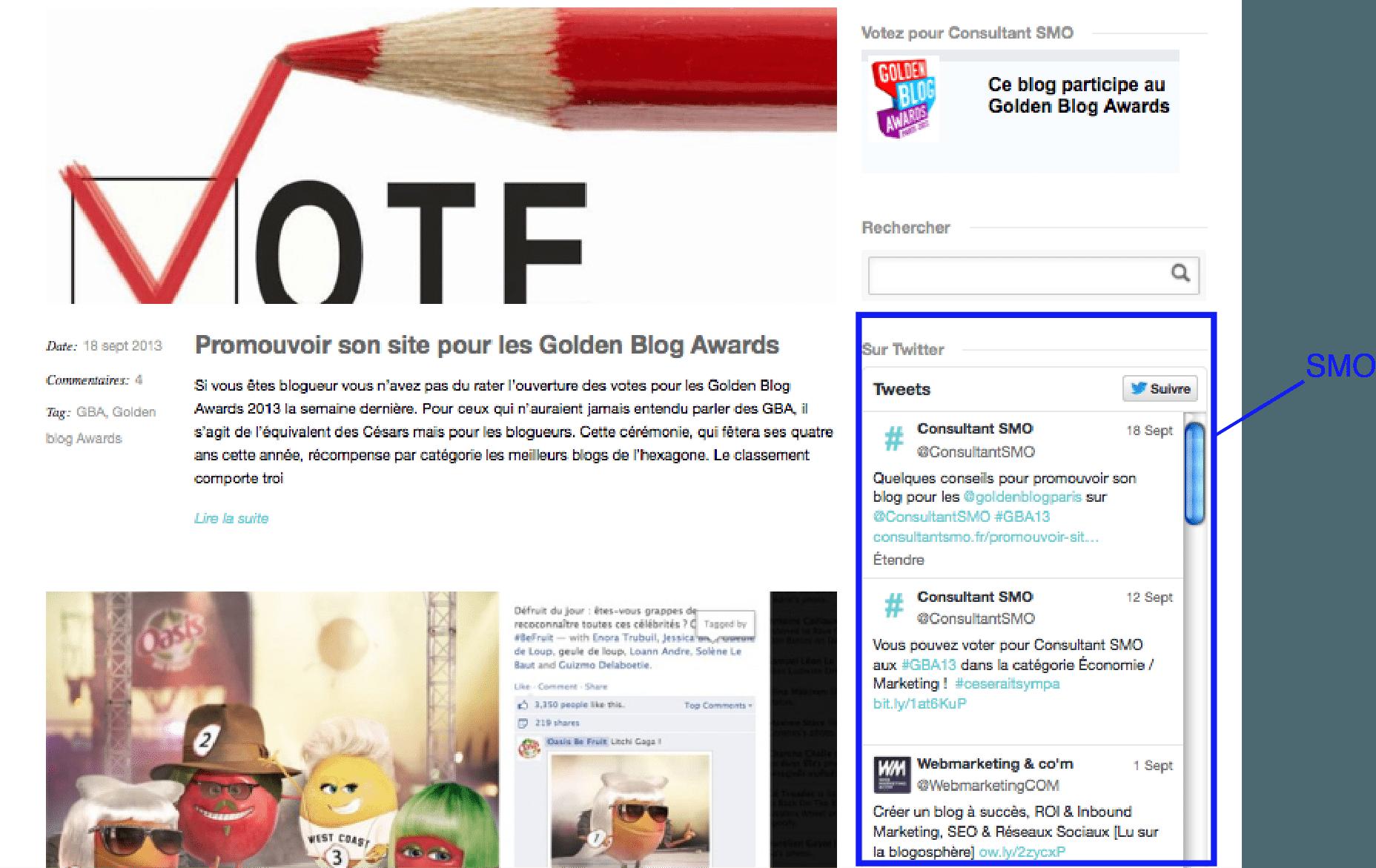 Sem Seo Sea Tweets, Blog, Moteur de recherche