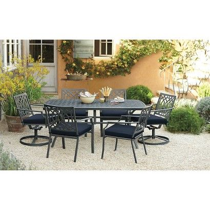 Threshold™ Harper Metal Rectangular Patio Dining Set (for Patio Instead Of  Round Table)