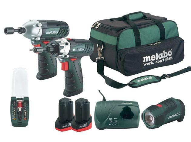 metabo powermaxx 12 lithium pro cordlesss drill driver combo kit ptsa tools pinterest. Black Bedroom Furniture Sets. Home Design Ideas