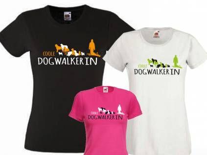 Fan-Shirts für HundefreundeHundefreund Damen T-Shirt: DOGWALKER 2.0, S/36…