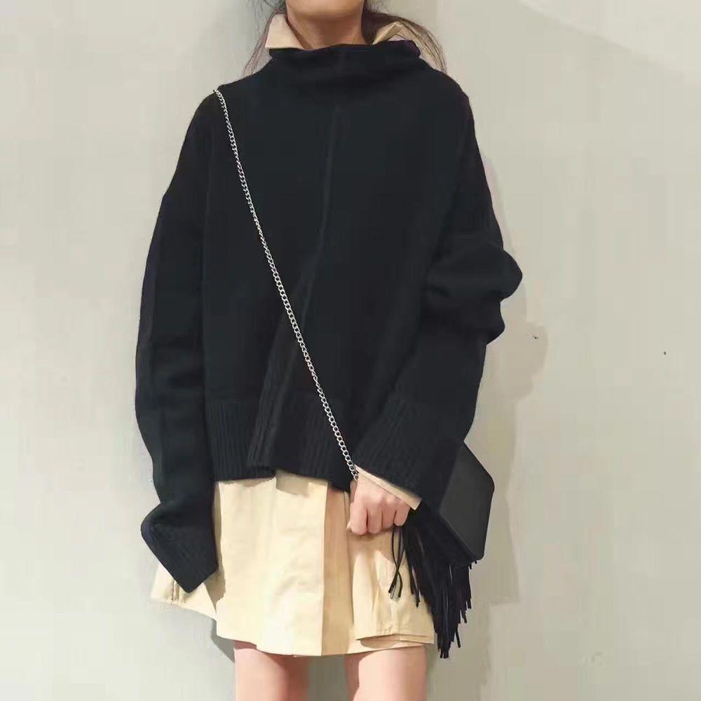 Celine Black Wool Oversized Turtleneck Sweater Top 38 S #Celine ...