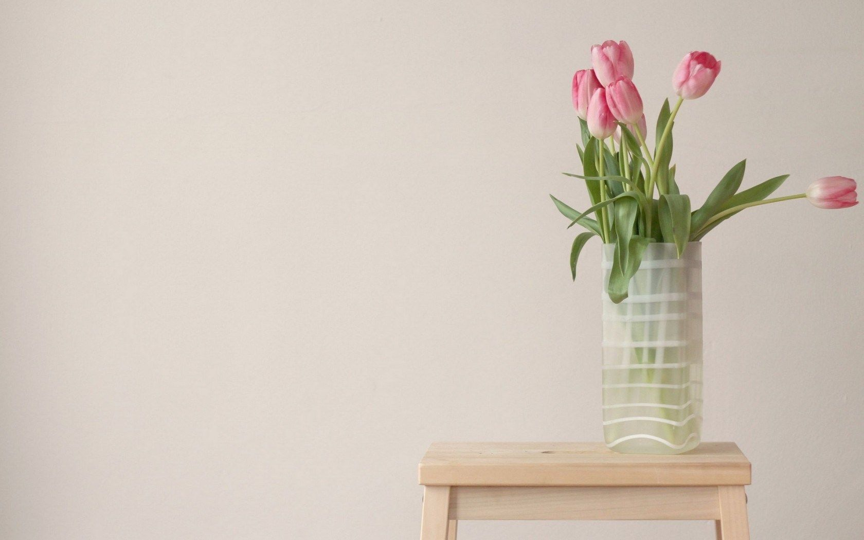 Vase, Awesome Flowers, Pink Tulips, Table   HD Wallpapers