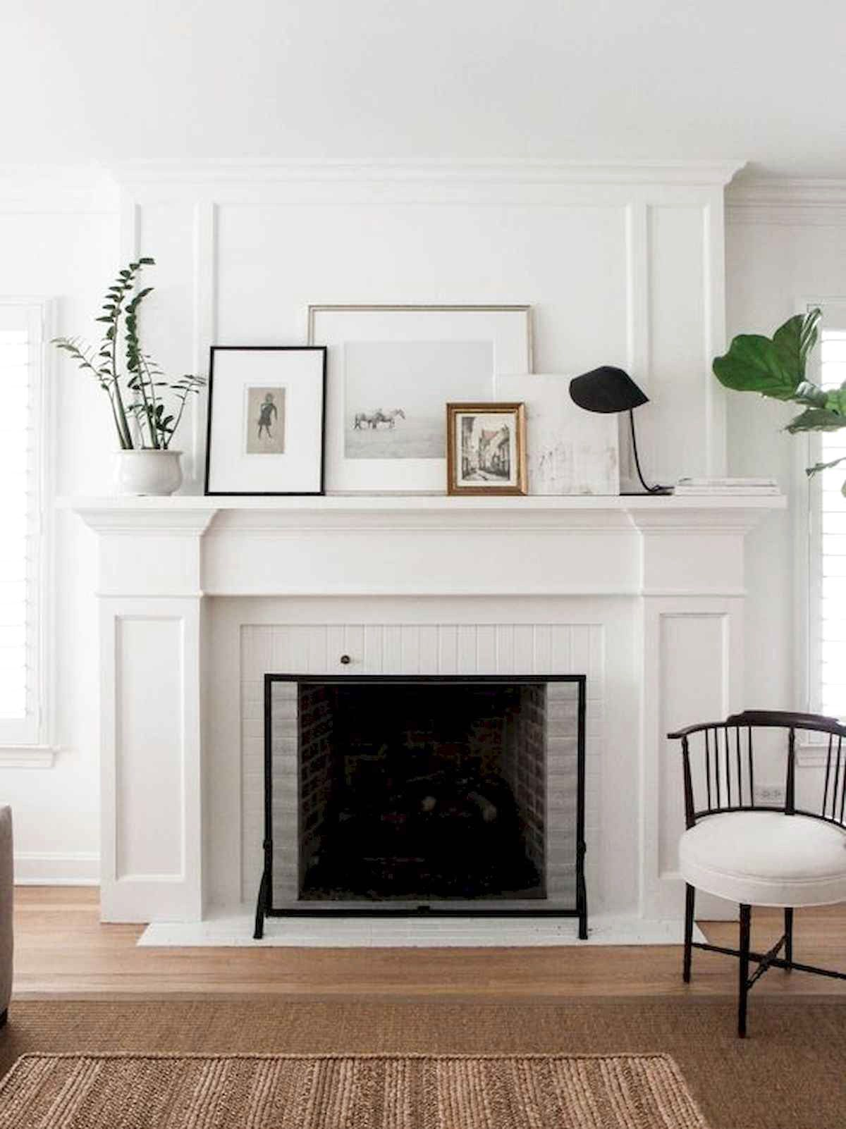 38 Best Modern Farmhouse Fireplace Mantel Decor Ideas Fireplace Mantel Designs Contemporary Fireplace Farmhouse Fireplace Mantels