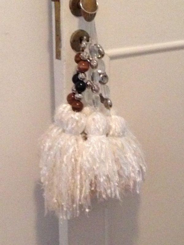 Borlas de lana e hilo para colgar en el barral de cortina, puerta ...