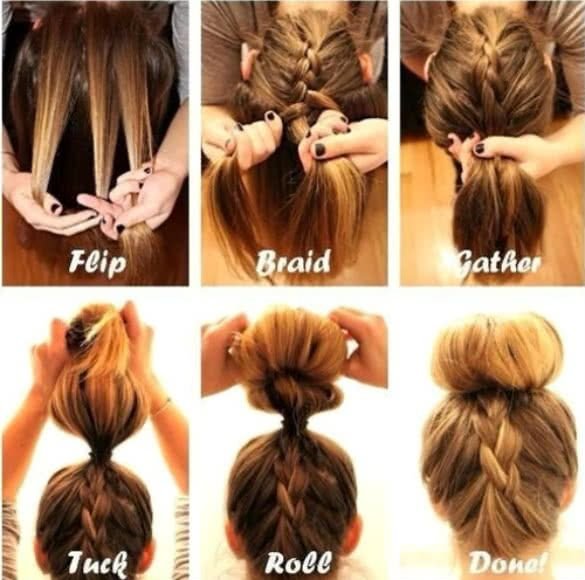 Pin by Haris Wkwk on Hairstyle | Pinterest | Quick easy updo, Easy ...