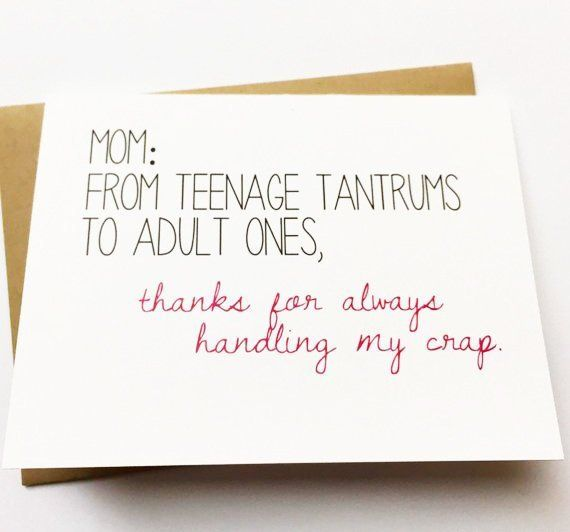 Mom Card Funny Card For Mom Mom Birthday Card Funny Mother S