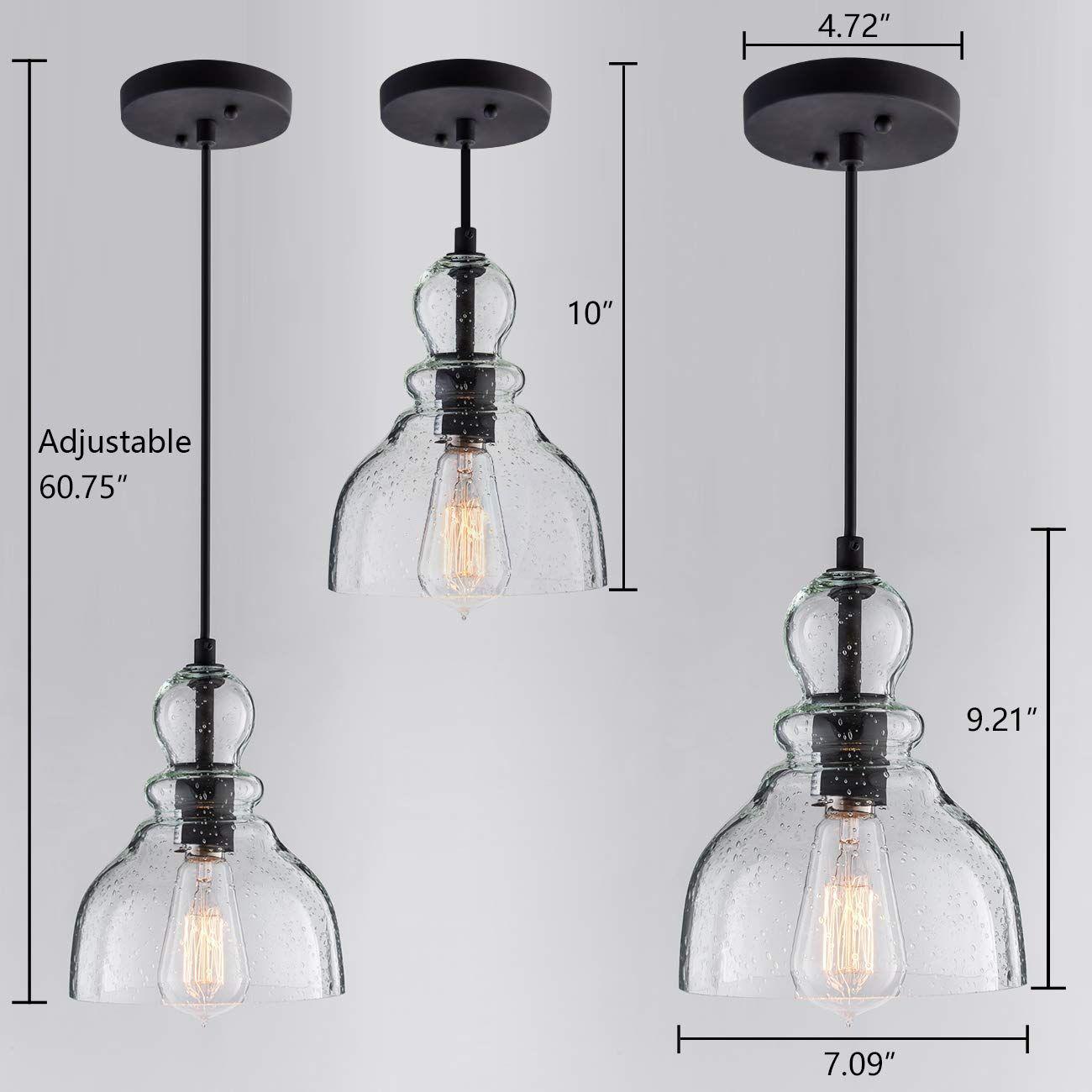 Lanros Industrial Mini Pendant Lighting With Handblown Clear