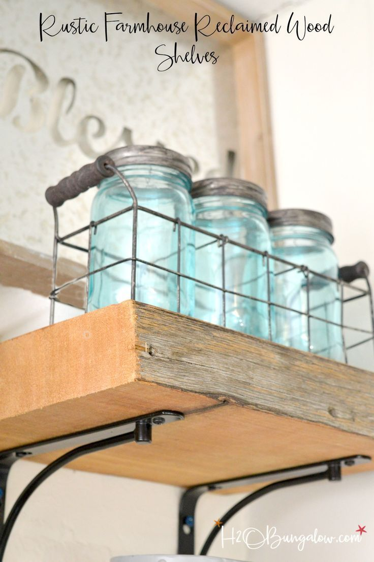 DIY Reclaimed Wood Kitchen Shelves | Reclaimed wood kitchen, Kitchen ...