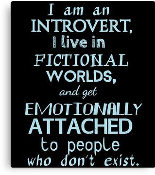 'introvert, fictional worlds, fictional characters #2' Canvas Print by FandomizedRose #fictionalcharacters