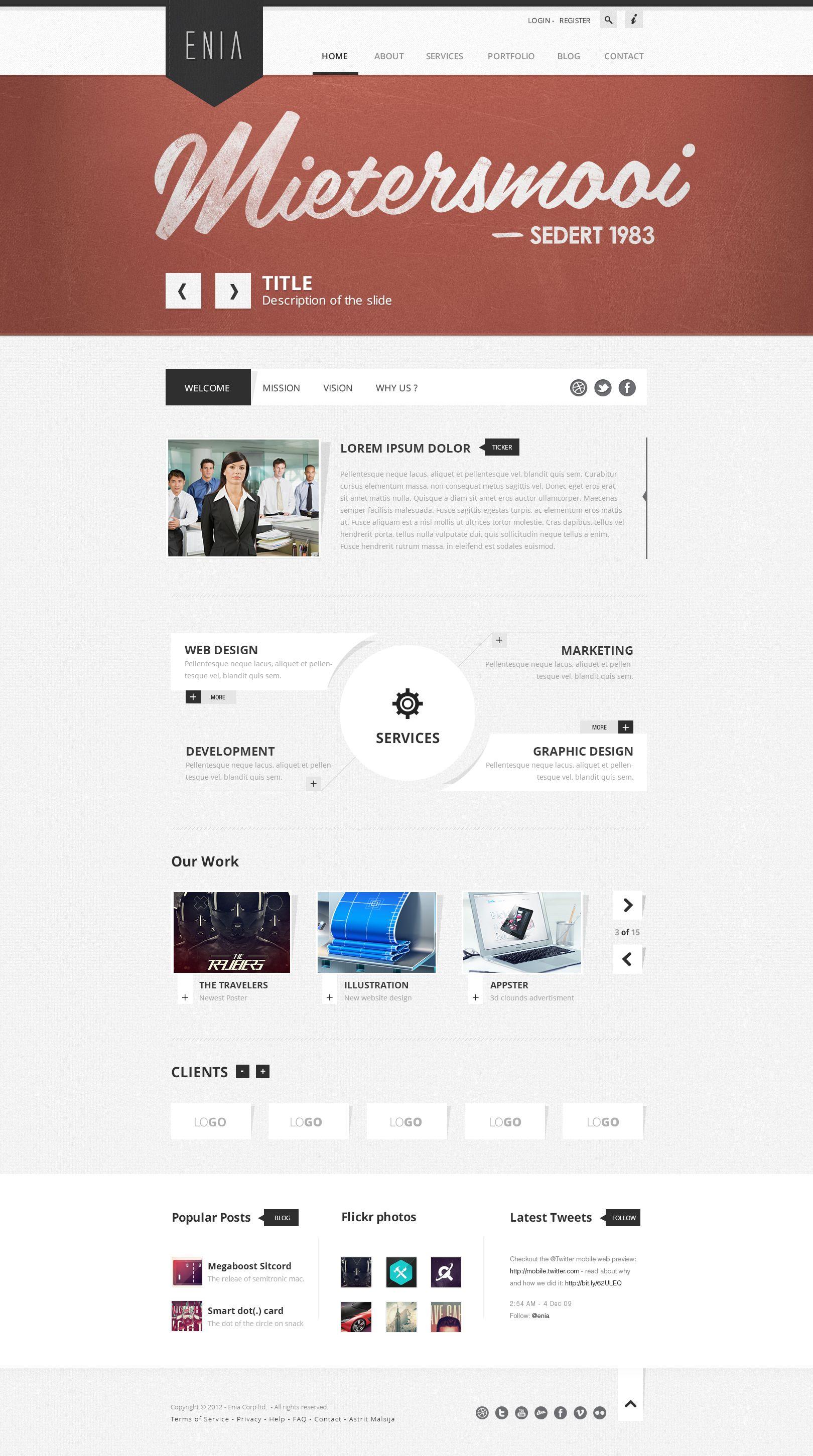 Enia - Professional PSD template by ~blottah on deviantART