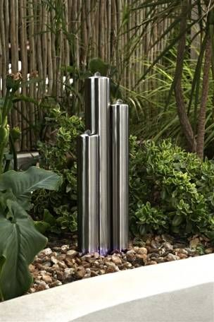 Buy Stainless Steel 3 Tube Water Feature from the Next UK online
