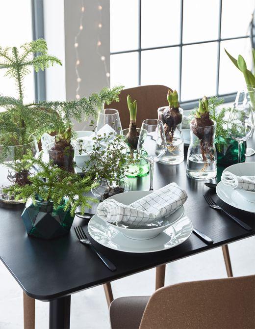Ikea Feiertage warum die weihnachtstafel nicht zur abwechslung mit blumenzwiebeln
