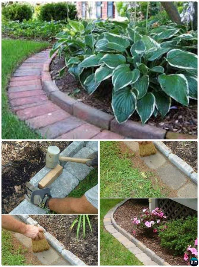 Creative Garden Bed Edging Ideas Projects Instructions Brick