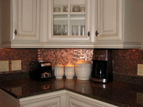 My Penny Backsplash, Inspired By Penny Floors From