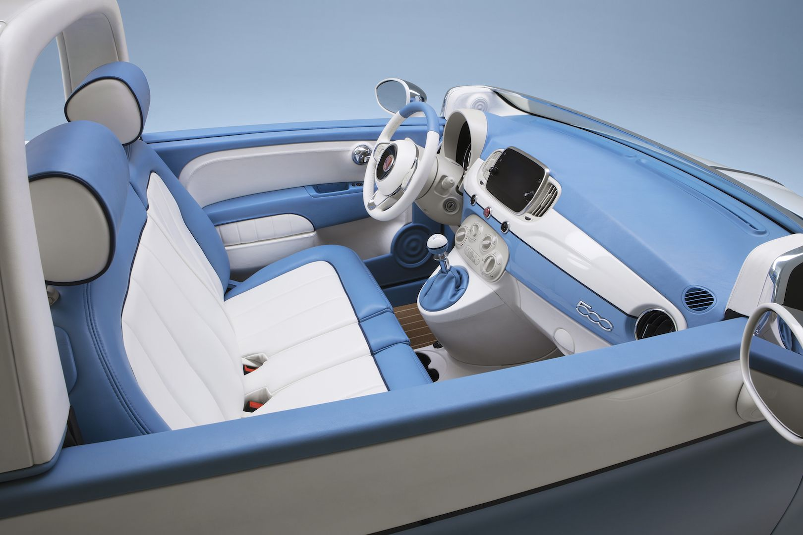 Fiat 500 Spiaggia 58 Cute Italian Blue Inside Details Interior