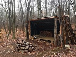 Adirondack Style Shelter With Reflecting Fireplace With Images