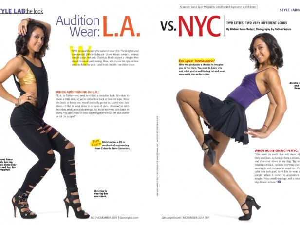 What to wear to an audition in L.A. vs. NYC (photos by Nathan Sayers